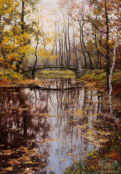 Adamow Alexis - 'Autumn in Park'