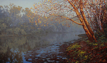 Adamow Alexis - 'Calm Morning on the River'