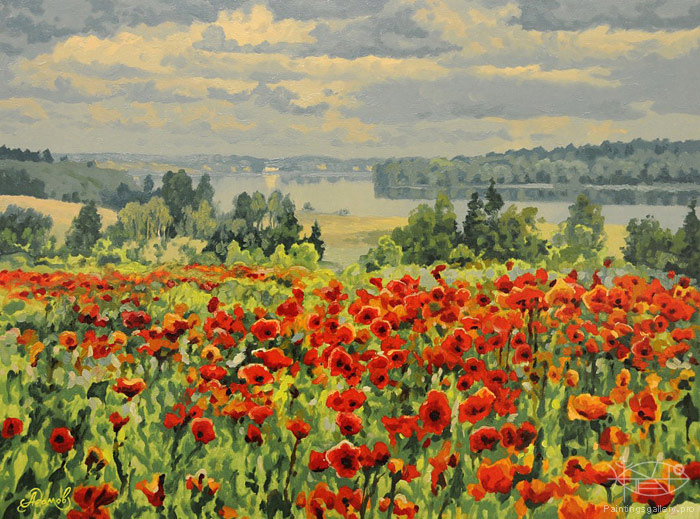 Adamow Alexis - 'Poppies'