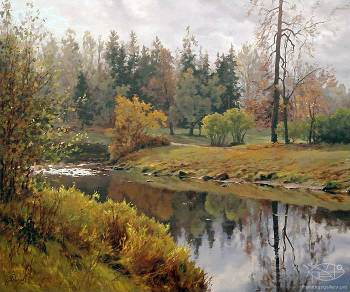 Adamow Alexis - 'River in October'