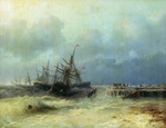 Aivazovskiy Ivan - 'Escaping from Storm'