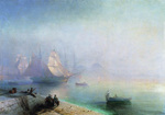 Aivazovskiy Ivan Konstantiovich - 'The Neapolitan Gulf in Foggy Morning'
