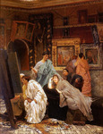 Alma-Tadema Lawrence - 'A Collection of Pictures at the Time of Augustus'