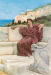 Alma-Tadema Lawrence - 'A Female Figure Resting'