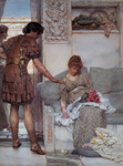 Alma-Tadema Lawrence - 'A Silent Greeting'