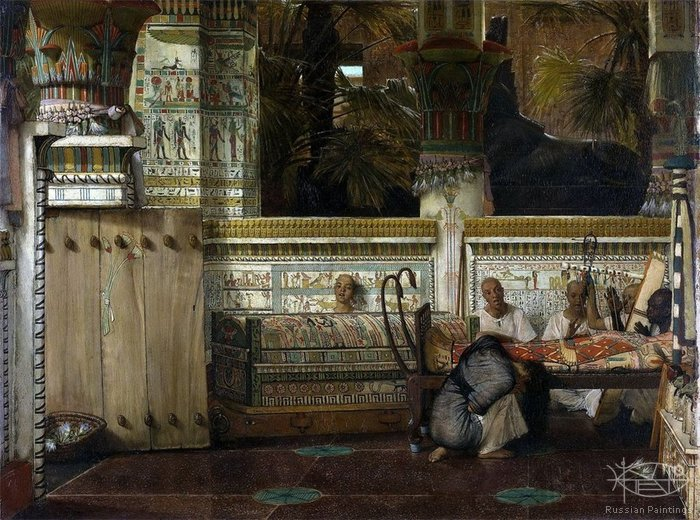 Alma-Tadema Lawrence - 'Egyptian Widows'