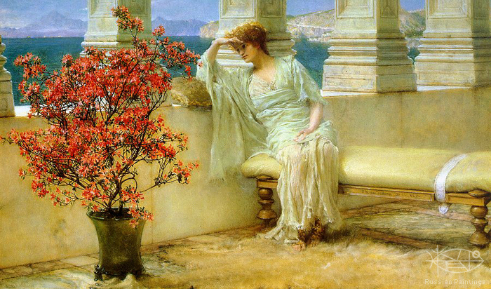 Alma-Tadema Lawrence - 'Eyes Full of Thoughts'