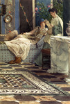 Alma-Tadema Lawrence  - 'From an Absent One'