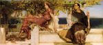 Alma-Tadema Lawrence - 'The Conversion of Paula by Saint Jerome'