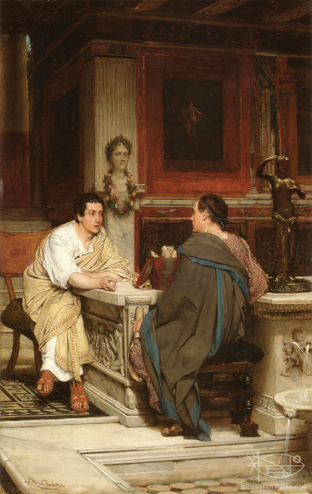 Alma-Tadema Lawrence - 'The Discourse'