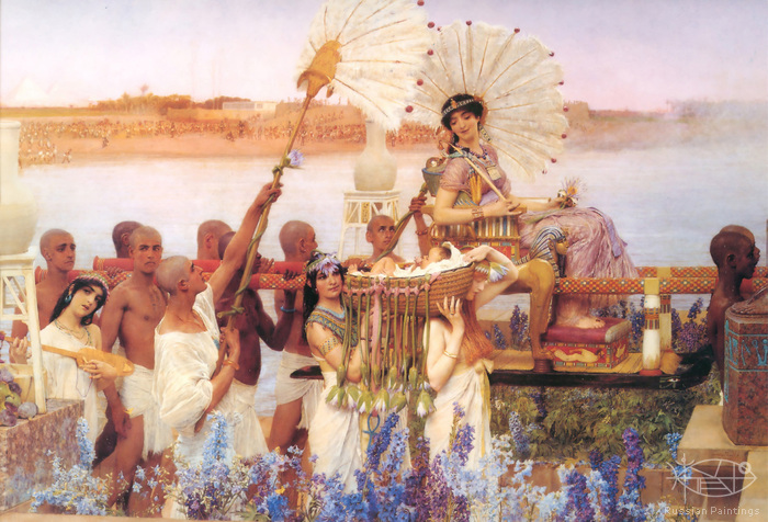 Alma-Tadema Lawrence - 'The Finding of Moses'