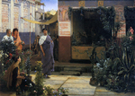 Alma-Tadema Lawrence  - 'The Flower Market'