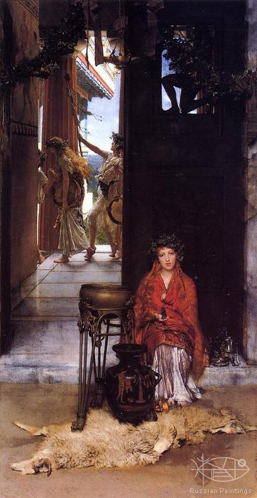 Alma-Tadema Lawrence - 'The Way to the Temple'