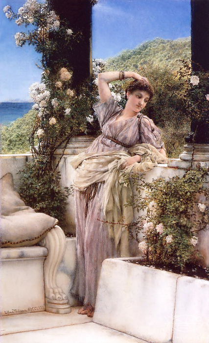 Alma-Tadema Lawrence - 'Thou Rose of All the Roses'
