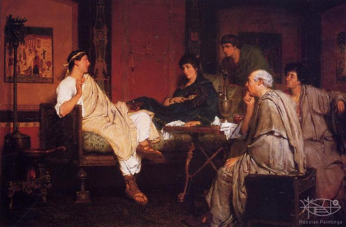 Alma-Tadema Lawrence - 'Tibullus at Delia's'
