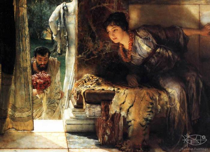 Alma-Tadema Lawrence - 'Welcome Footsteps'