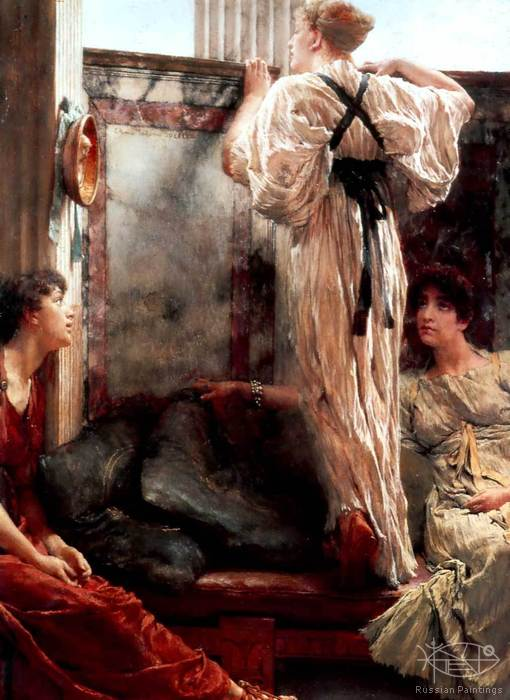 Alma-Tadema Lawrence - 'Who Is It?'