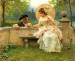 Andreotti Federico - 'A Tender Moment in the Garden'