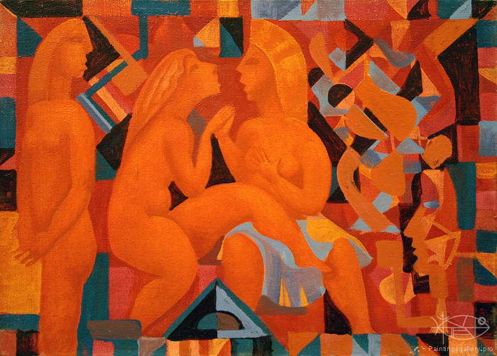 Antonov Nikolay - 'Red Composition'