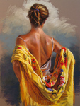 Aracil German - 'Yellow Shawl'