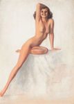 Armstrong Rolf  - 'Nude with Right Arm on Head'