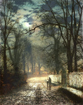Atkinson John  - 'A Moonlit Lane'