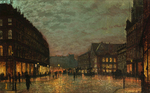 Atkinson John - 'Boar Lane, Leeds, by Lamplight'