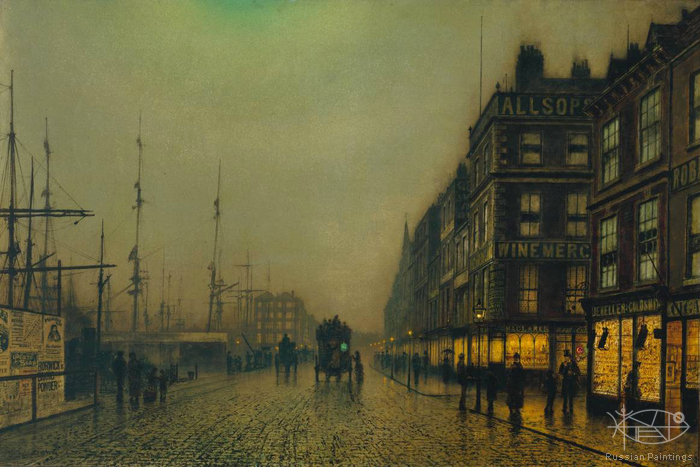 Atkinson John - 'Liverpool Quay by Moonlight'