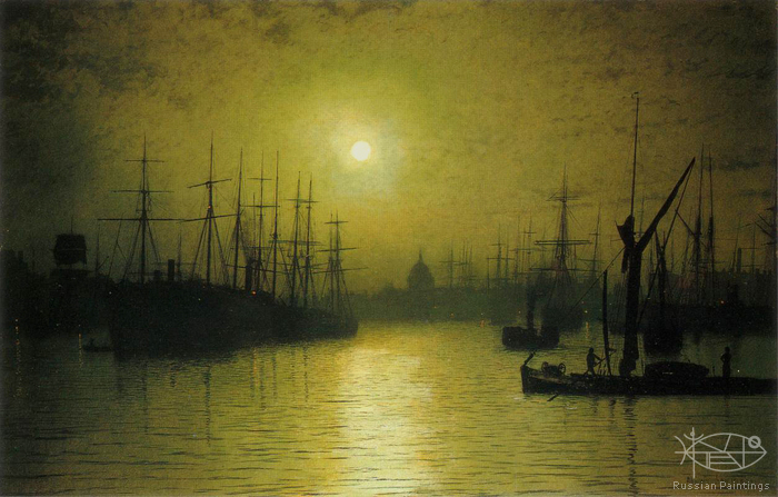 Atkinson John - 'Nightfall on the Thames'