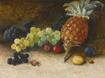 Atkinson John - 'Still Life with Pineapple, Grapes, Nuts and Plums'