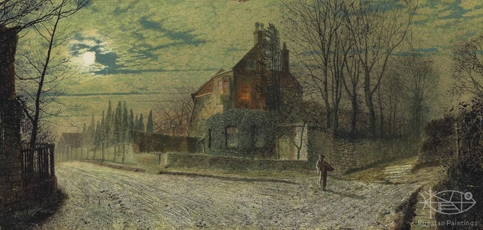 Atkinson John - 'Yew Court, Scalby, on a November Night'