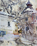 Badakva Valeriy  - 'Winter Courtyard'