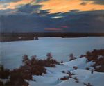 Baranov Pavel  - 'Winter Evening on the Volga River'
