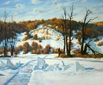 Baranov Pavel  - 'Winter on the Volga River'