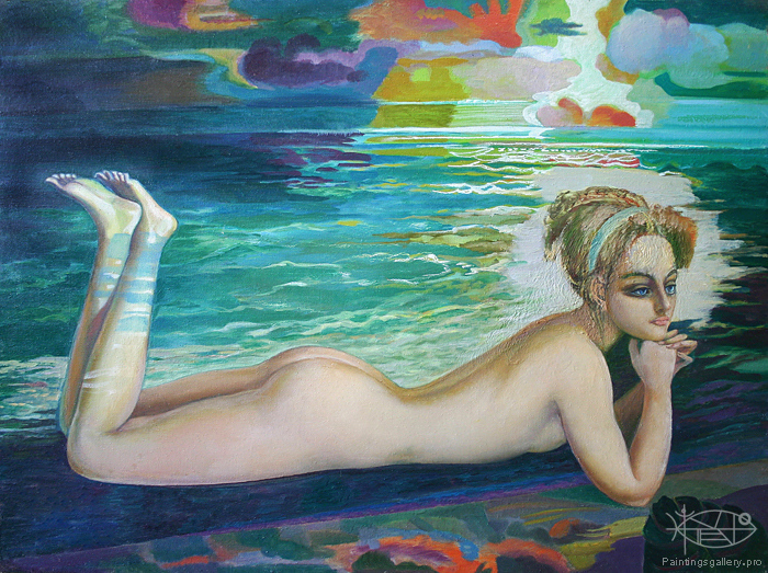 Bikulov Nurhatim Zarifovich - 'On the Beach'