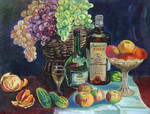 Bikulov Nurhatim Zarifovich - 'Still Life with Grapes'