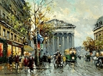 Blanchard Antoine  - 'Rue Royal, Place Madeleine'