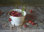 Blok Lyudmila - 'Still Life with Cherries'