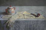 Blok Lyudmila - 'Still Life with Pipe'