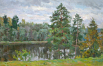 Bogdanov Andrey - 'Landscape with Pine-trees'