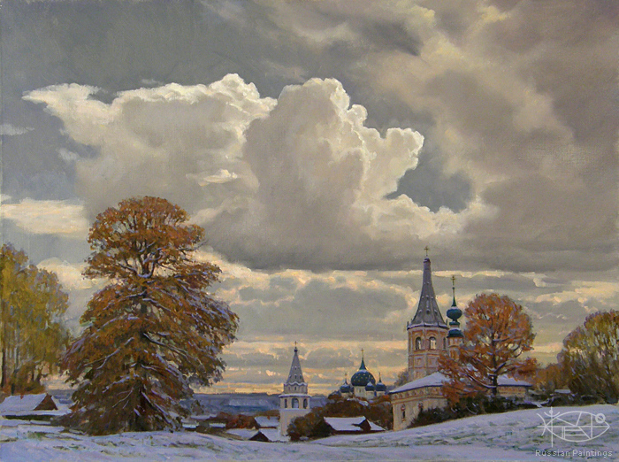 Bondarenko Yuri Mikhaylovich - 'After Snowfall'