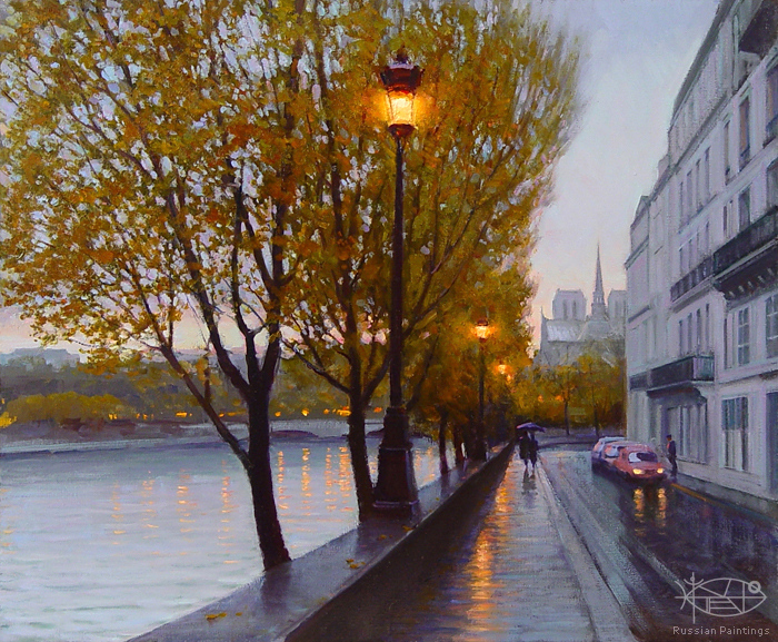 Bondarenko Yuri Mikhaylovich - 'Autumn in Paris'
