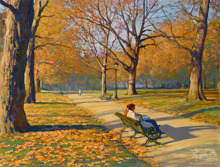 Bondarenko Yuri Mikhaylovich - 'Autumn in the Green Park'