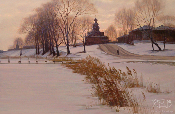 Bondarenko Yuri Mikhaylovich - 'Evening in Suzdal'