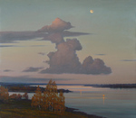 Bondarenko Yuri Mikhaylovich - 'Evening on the Volga River'