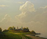 Bondarenko Yuri - 'Gorodnya on the Volga River'
