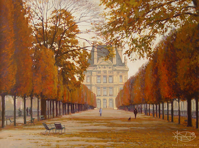 Bondarenko Yuri Mikhaylovich - 'In Paris. The Tuileries Gardens'