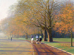 Bondarenko Yuri Mikhaylovich - 'Riding in Hyde Park'