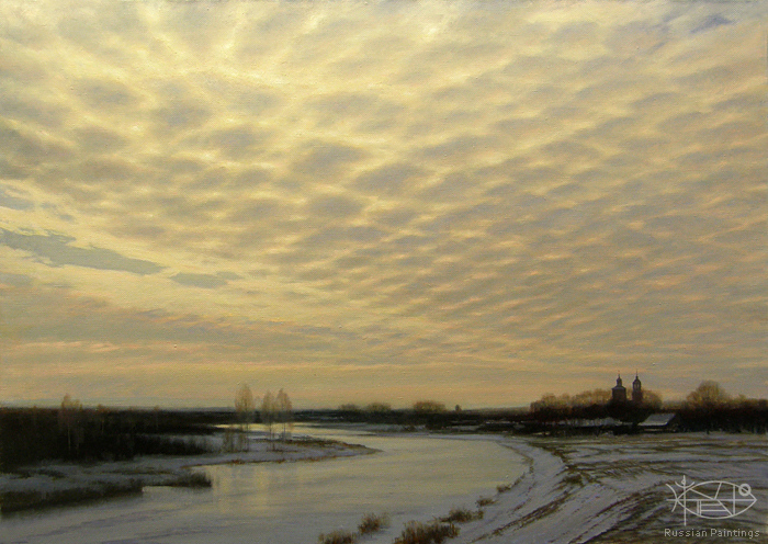 Bondarenko Yuri - 'Winter on the Kamenka River'