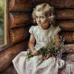 Braginskiy Arthur - 'Girl with Wild Flowers'